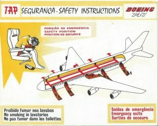 retro feeling safety card