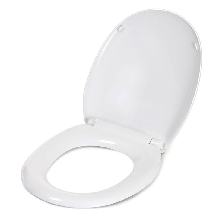 Croydex White Slow Close Antibacterial Toilet Seat
