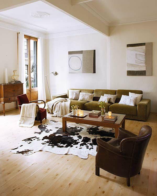 17 melhores ideias sobre tapetes de couro no pinterest - Alfombras de vaca ...