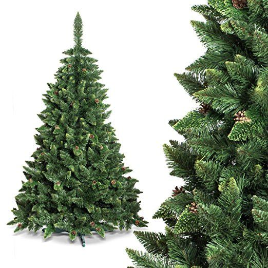 fairytrees rbol de navidad artificial modelo pino blanco natural nevado material pvc pias