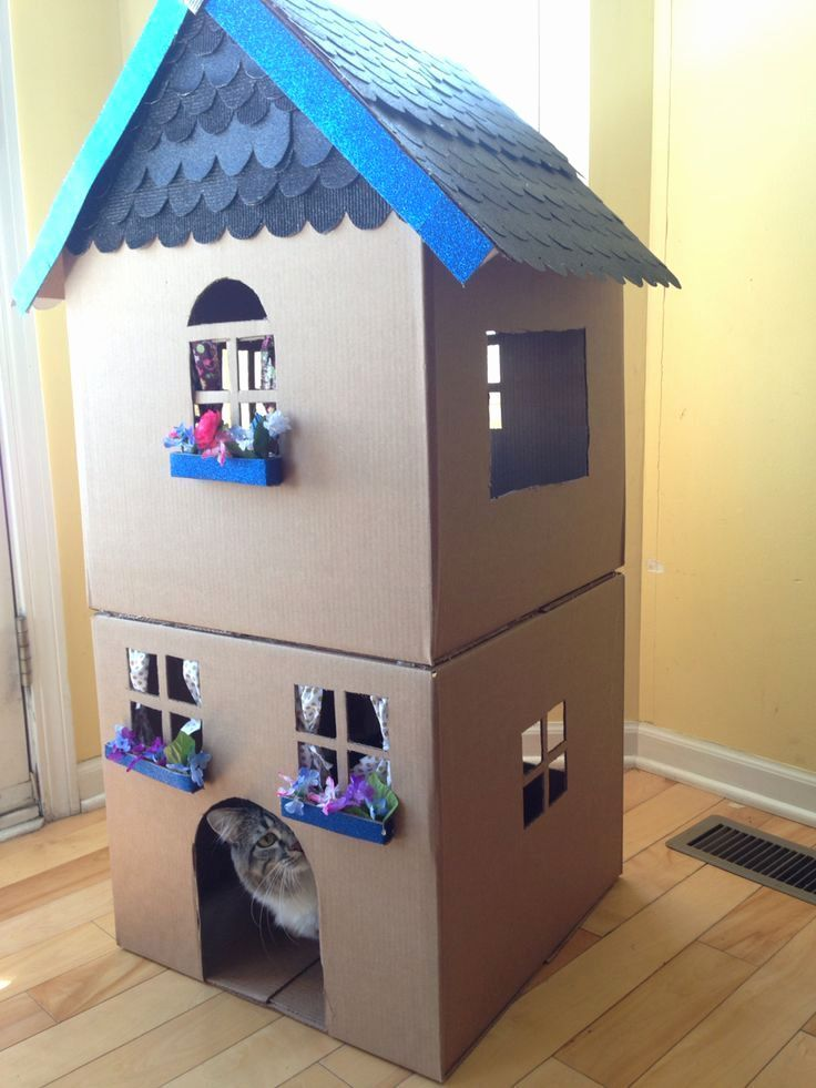 Dog House Plans Lowes Beautiful Thanks Camille Mary Adapted From Her Design With Her Help Cardboard Cat House Cat House Diy Cat Castle