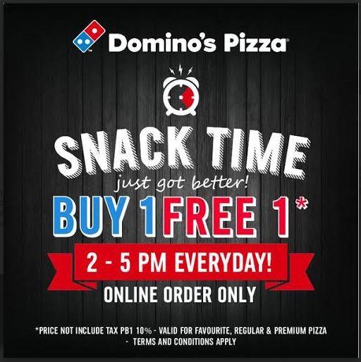 Snack Time: Beli 1 Gratis 1 di Domino's Pizza 28 Desember 2014 – 31 Januari 2015