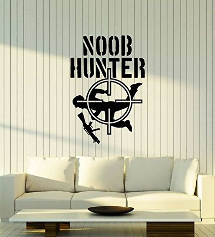 Art of Decals Vinyl Wall Decal Noob Hunter Gamer Room Video Games Shooting Stickers Mural Large