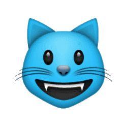émoticônes, smileys, cliparts, visage de chat, jaune, vert, bleu, rose, violet, gris, heureux, rire, sourire, content, en colère, en pleurs, larme, triste, étonné, clin d'œil, surpris, cœur, amour, téléchargement, gratuit, séries, collections