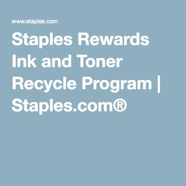 Staples Rewards Ink and Toner Recycle Program | Staples.com®