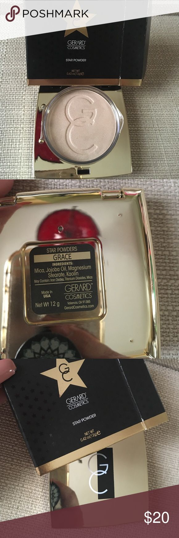 Gerard Cosmetics star powder Grace Gerard Cosmetics star powder in Grace, item is brand new in box and it will be shipped to you same day. gerard cosmetics Makeup Luminizer