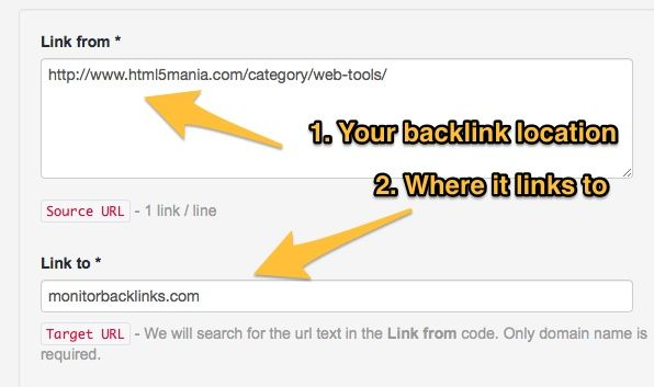 How to track one or multiple backlinks