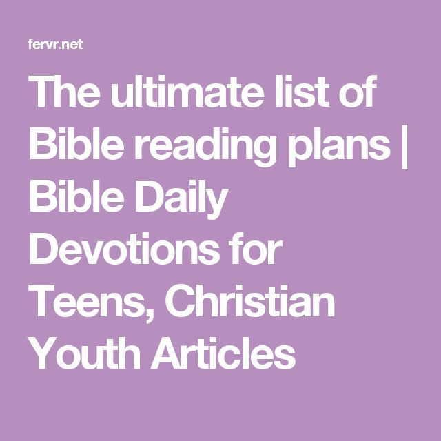 Daily Bible Reading Plans 2019 - Read the Bible in a Year!