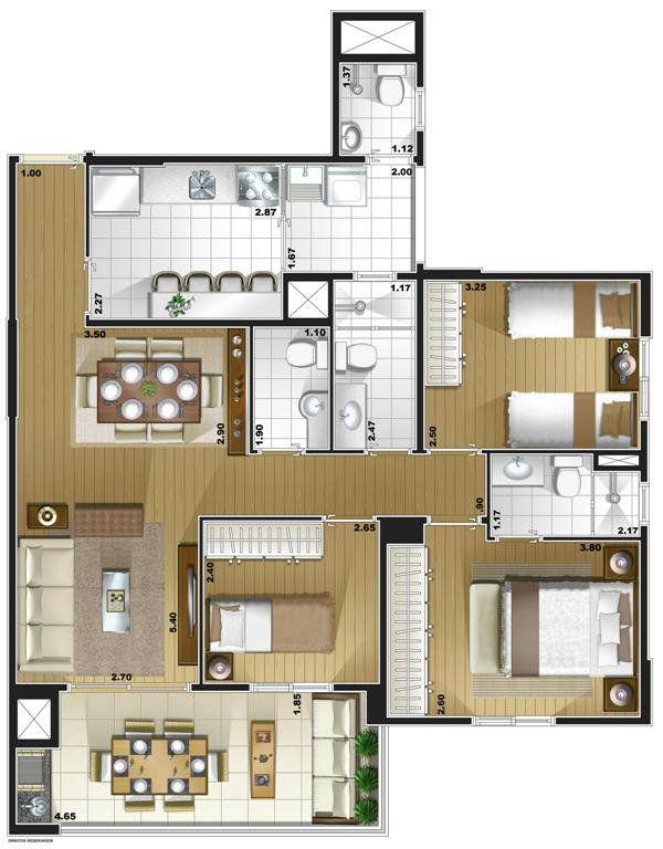 Condomínio Edifício Saint Paul Club Residence - Brooklin - Av. Lins de Vasconcelos, 2999 - Jardim da Glória | 123i