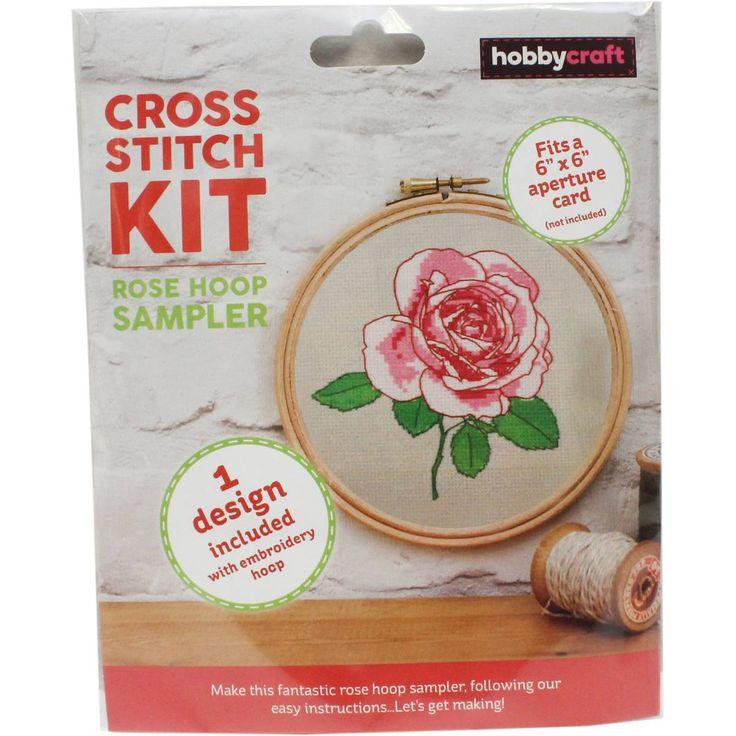 Rose Cross Stitch Hoop Kit | Hobbycraft