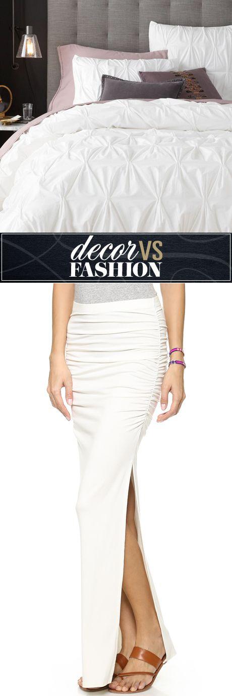 Decor vs. fashion: white duvet cover or skirt?