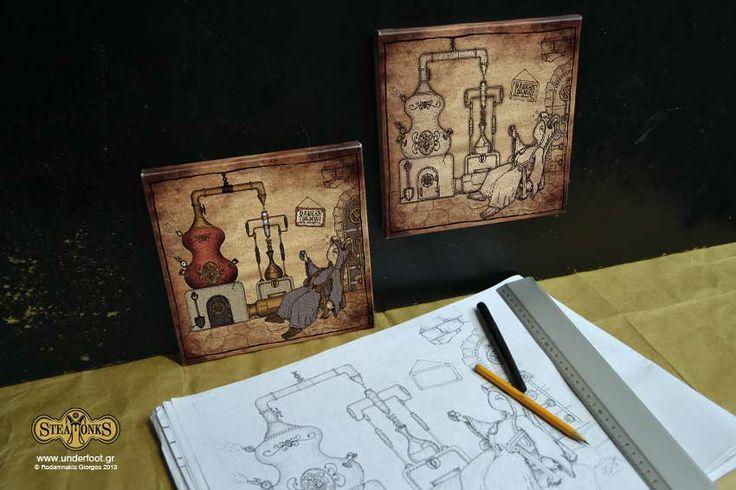 """Steamonks """"Rakokazano"""" - Canvas Print  http://steamonks.underfoot.gr/steamonksart/page/2/"""