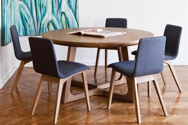 Mesas redondas y ovaladas dos alternativas para el - Mesita de comedor ...