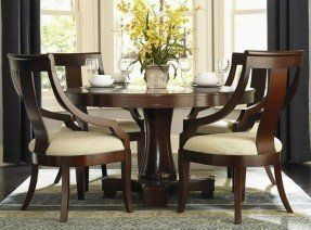 Round dining table sets for 4 3