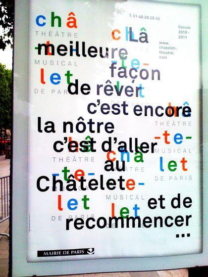 FRANCE - Philippe Apeloig -affiche pour le Théâtre Chatelet