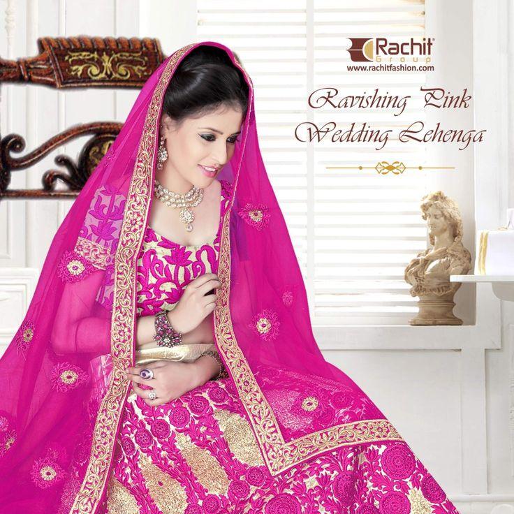 Wedding is the most beautiful day in everyone's life, and all eyes are on the Beautiful Bride. Get the Most Beautiful Bridal Pink Lehenga. Visit: www.rachitfashion.com #Pink #Ravishing #Lehenga #Bridal #Lehenga #Shop #Online #Rachitfashion