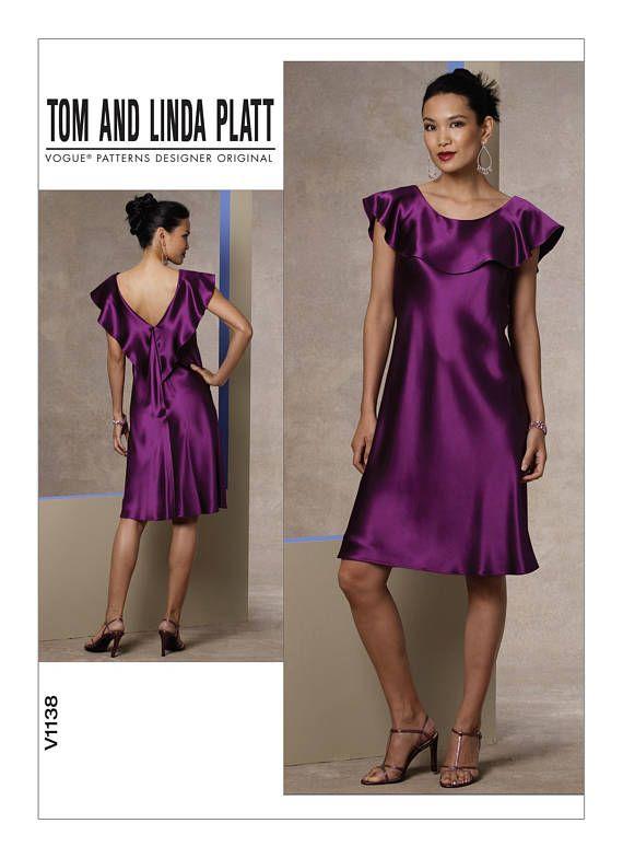 446c0d8a0 VOGUE 1138 COCKTAIL Dress Pattern Evening Gown Pattern Vogue ...