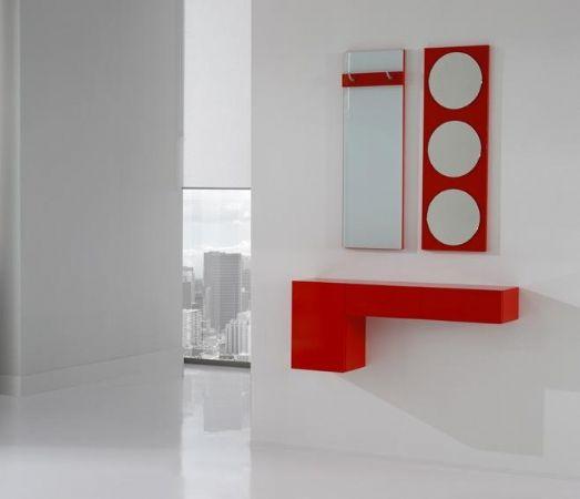 recibidor lacado rojo 13 - mueble de entrada moderno