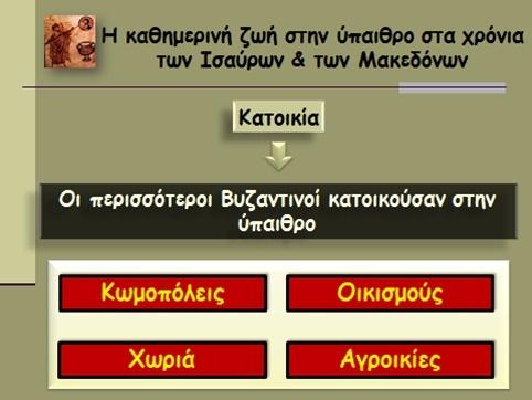 Η καθημερινή ζωή στην ύπαιθρο στα χρόνια των Ισαύρων & των Μακεδόνων