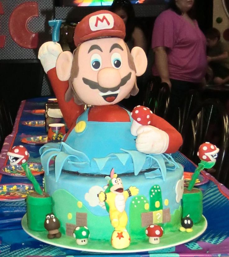 Mario Birthday Cakes Images