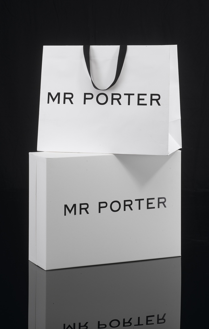 Mr Porter Embossed Paper Carrier and Rigid Two Piece Box... #packaging