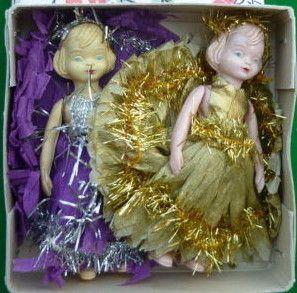 two vintage Christmas fairies!