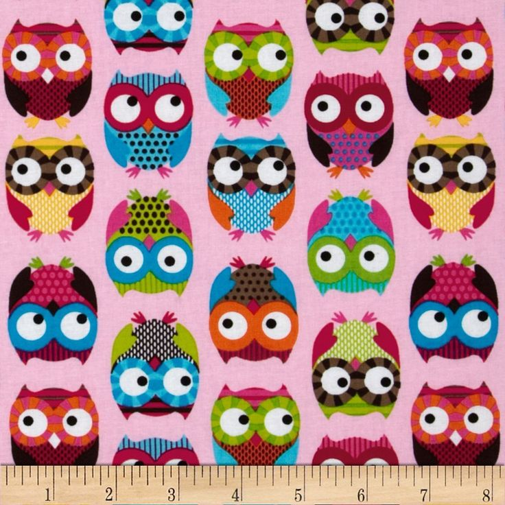 Amazon.com: Timeless Treasures Owls Pink Fabric