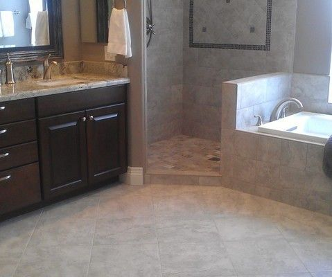 While taking longer than carpet to install, tile work can improve the look of any room. Showers and specialty work always require more time and expertise. Our tile crews have worked with us for over a decade and understand our attention to detail and custom designs.