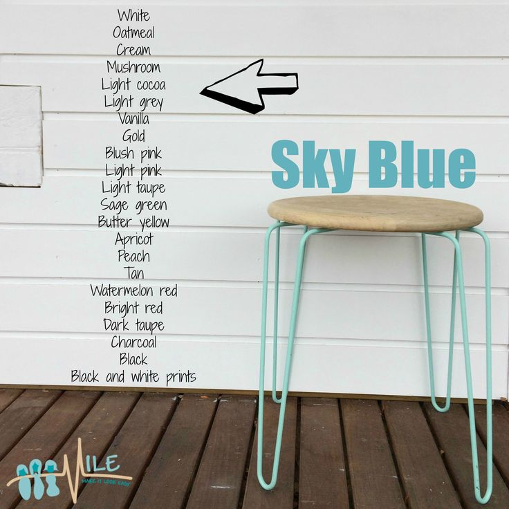 Sky blue goes with...