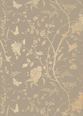 Liang wallpaper from Thibaut - T36176 - Grey and Metallic Gold