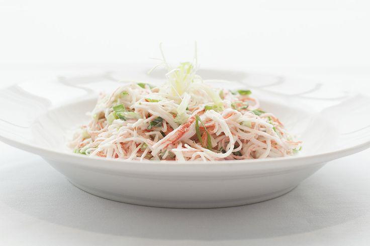 Krabby Salad with celery, red onions in a creamy lemon dressing. @Crocker Art Museum Cafe