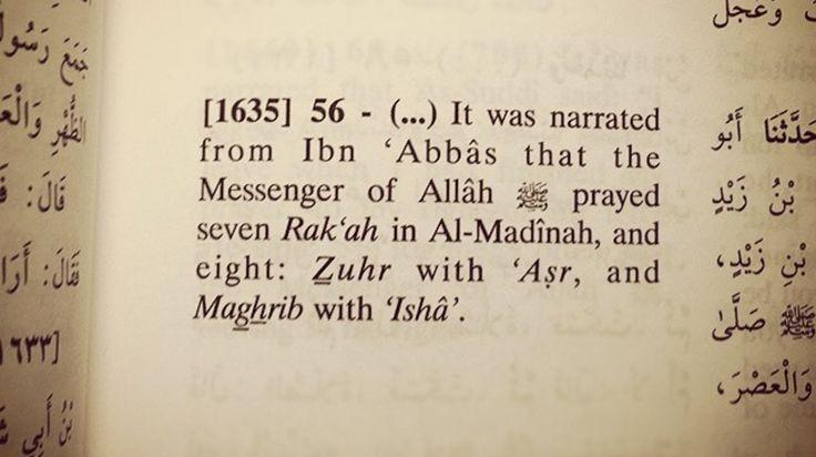 Bukhari: The Prophet ص combined Wajib prayers