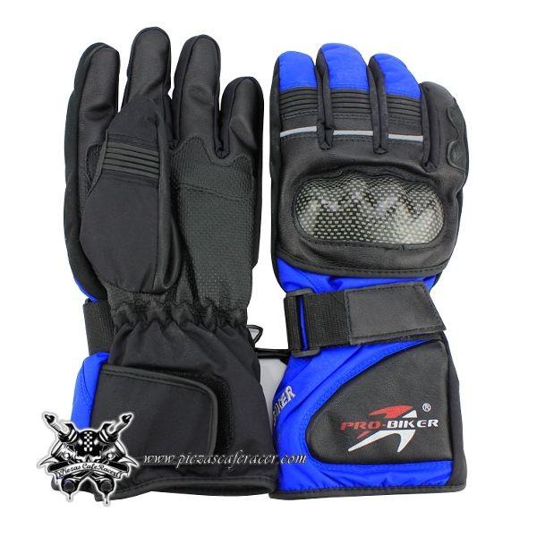 24,02€ - ENVÍO GRATIS - Par de Guantes para Moto de Invierno con Protecciones Modelo HS10 Color Negro