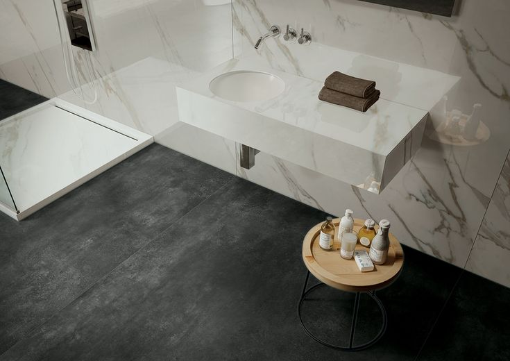 AVA Ceramica - EXTRAORDINARY SIZE Collection - Made in Italy - #bathroom #Marmi #Skyline - www.avaceramica.it