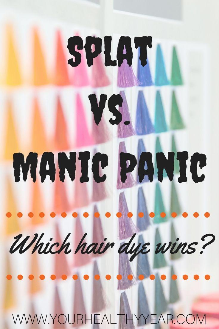 Splat Hair Dye Manic Panic Colors Manic Panic Hair