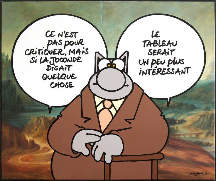 joconde Le chat geluck artist art bande dessinée