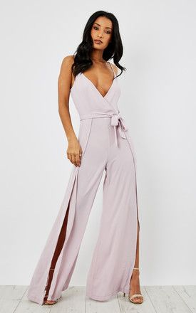 814c142962a4 Split Leg Wrap Over Jumpsuit