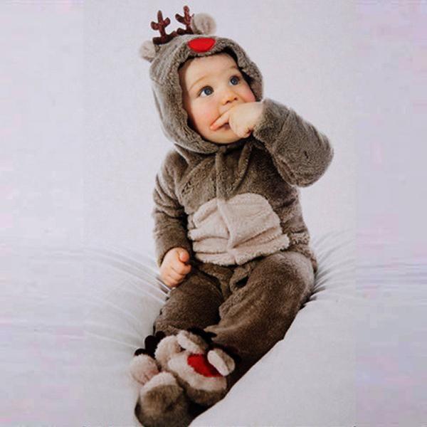 Christmas Cute Little Deer Romper, So Soft Christmas Deer