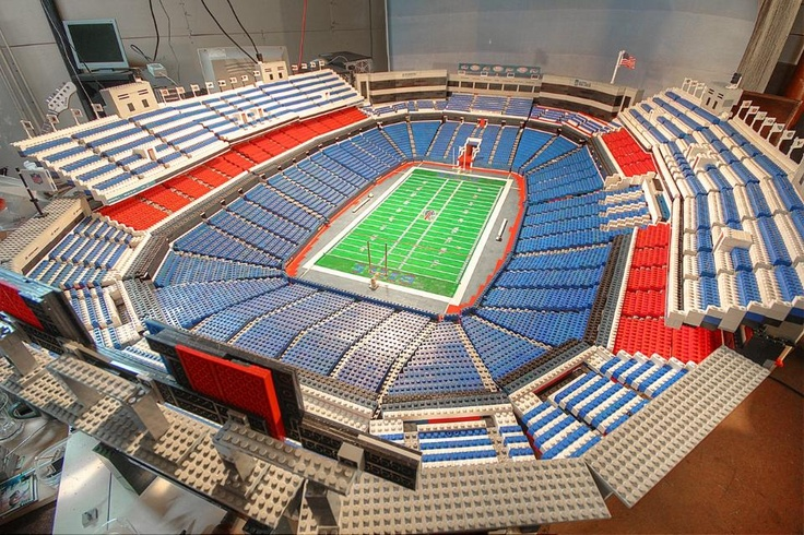 Talk about dedication. This fan-built replica of Ralph Wilson Stadium is made up of 30,000 Legos