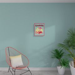 La tendance Miami s'immisce chez vous !   Inspirée de la Floride et de ses plages, elle vous transporte dans une ambiance estivale aux couleurs acidulées, jeune et ultra tendance !   Cette toile imprimée PINK FLAMINGO offrira un air de vacances dans votre intérieur !