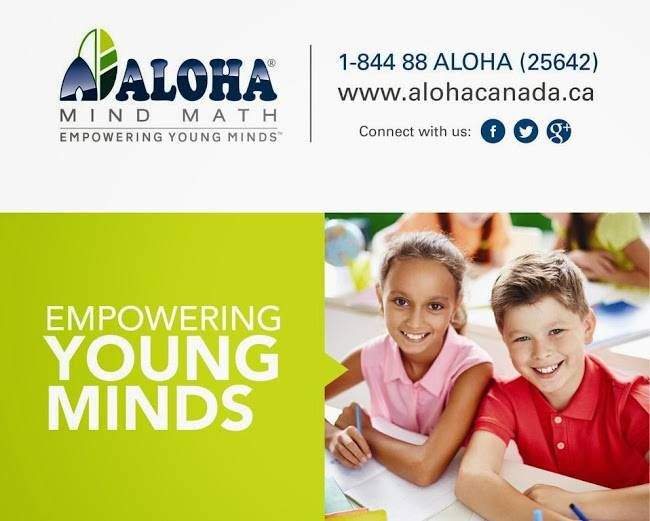 512 Bristol Rd W, Unit 9, Mississauga, ON L5R 3Z1 | Empowering YOUNG MINDS | Aloha Mind Math program is much more than math.   Aloha Mind Math program is a holistic brain development program for kids based on the use of the Abacus. It is offered in more than 4000 centers worldwide. For more details, Please Call the Toll Free No: 1-844 88-(ALOHA) 25642 (or) visit our website http://abacusmath.ca/.   Aloha Mind Math is a holistic mental development process based on mental arithmetic system…