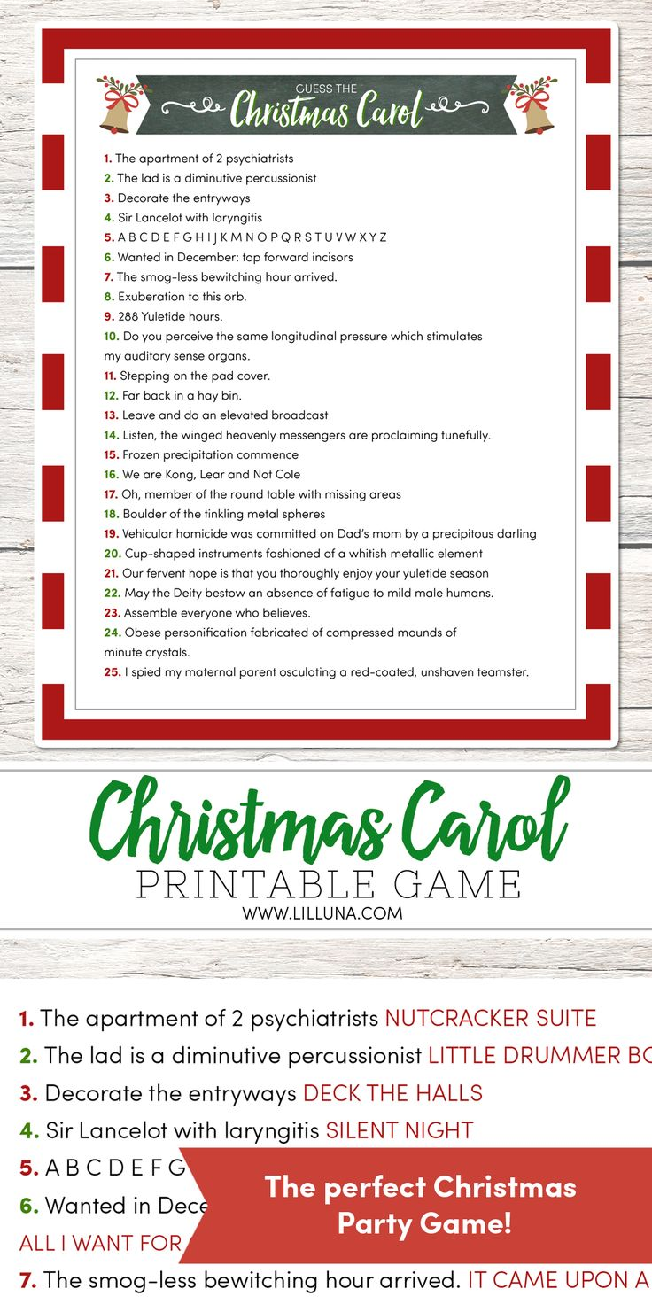 44 best Christmas Trivia images on Pinterest | Holiday games ...
