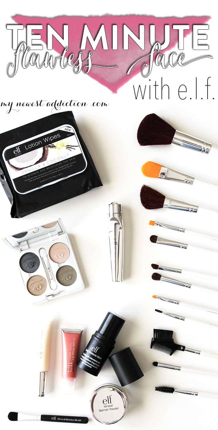 Ten Minute Flawless Face with e.l.f. - http://www.mynewestaddiction.com/2014/09/ten-minute-flawless-face.html