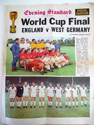 World Cup 1966 Evening Standard Final colour cover and full paper