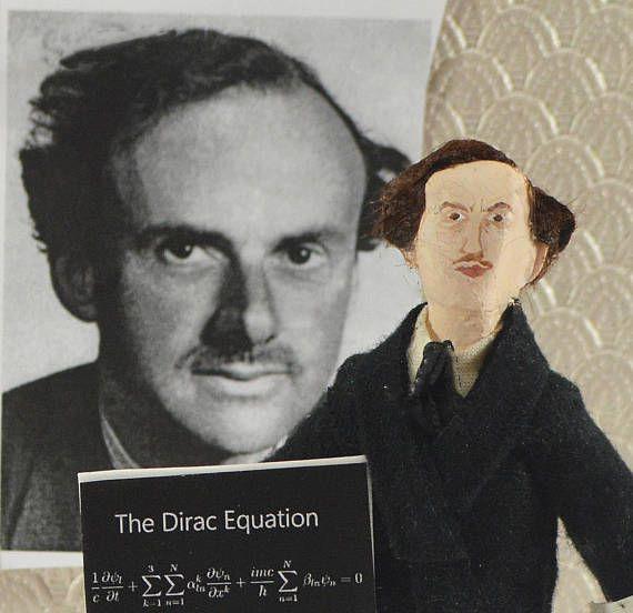 Paul Dirac Physicist Scientific Art Collectible Figure