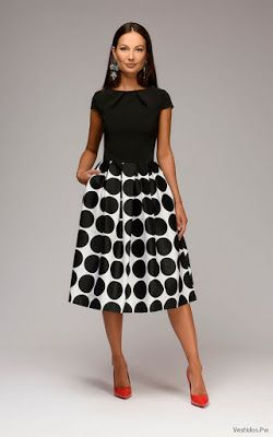 870e383fb Vestidos negro con blanco
