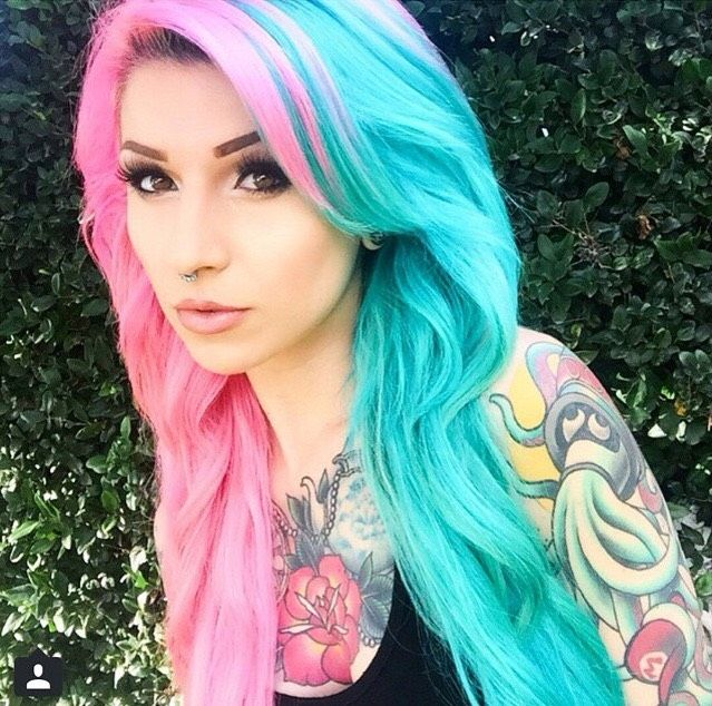 i just cannot believe it i found the thing thats been missing all my life half colored hairhalf - Blue Color Hair