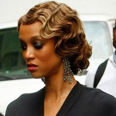 finger wave hairstyles for black women with head bands - Google Search