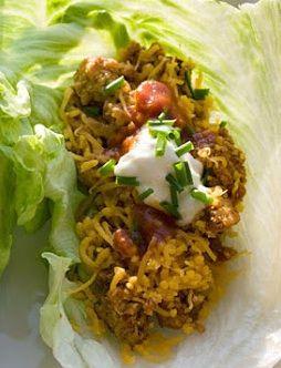 Wraps van sla met kalkoenvulling ♥ Foodness - good food, top products, great health
