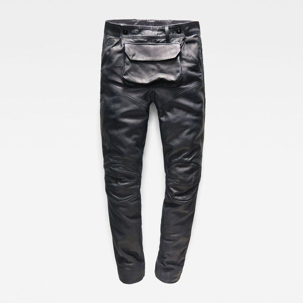 G-Star RAW 5620 G-Star Elwood 3D Pouch Leather Boyfriend Pants (£335)